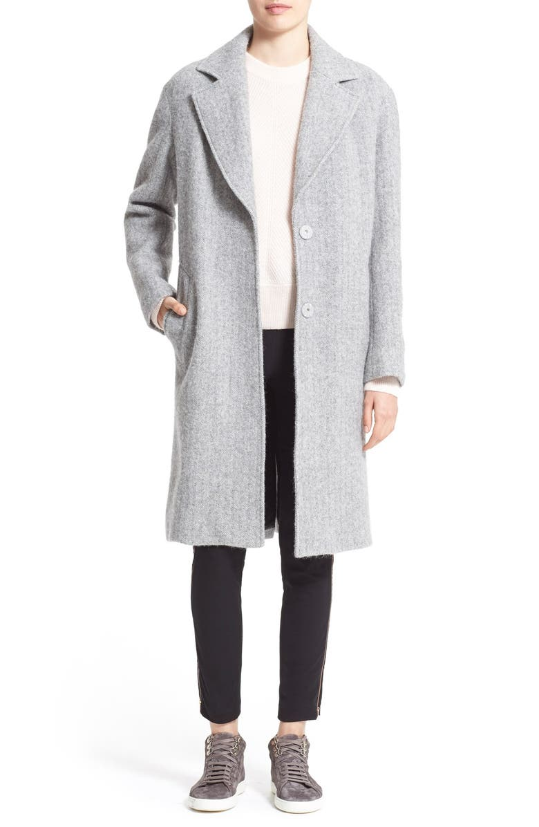 RAG & BONE 'Ray' Wool & Alpaca Coat, Main, color, 026
