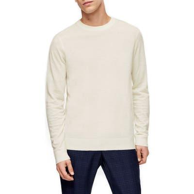 Topman Premium Crewneck Sweater, Ivory