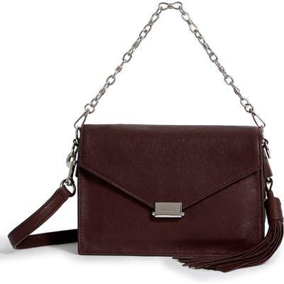 Allsaints Miki Leather Shoulder Bag - Burgundy