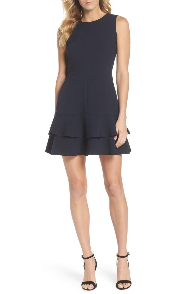 ADELYN RAE Lavinia Fit & Flare Dress, Main, color, 410