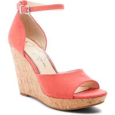 Jessica Simpson Jarella Platform Wedge Sandal, Coral