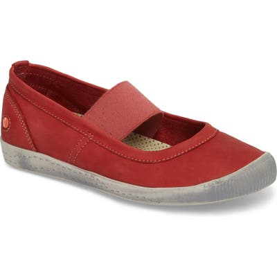 Softinos By Fly London Ion Mary Jane Sneaker - Red