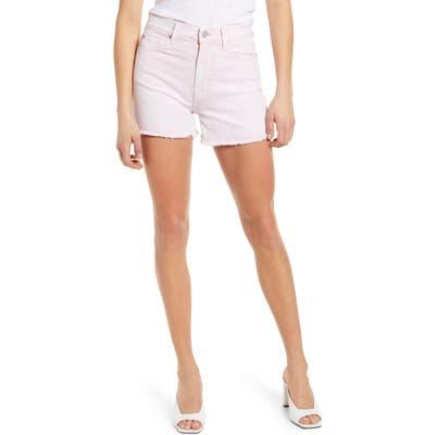 7 For All Mankind High Waist Cutoff Denim Shorts, Pink