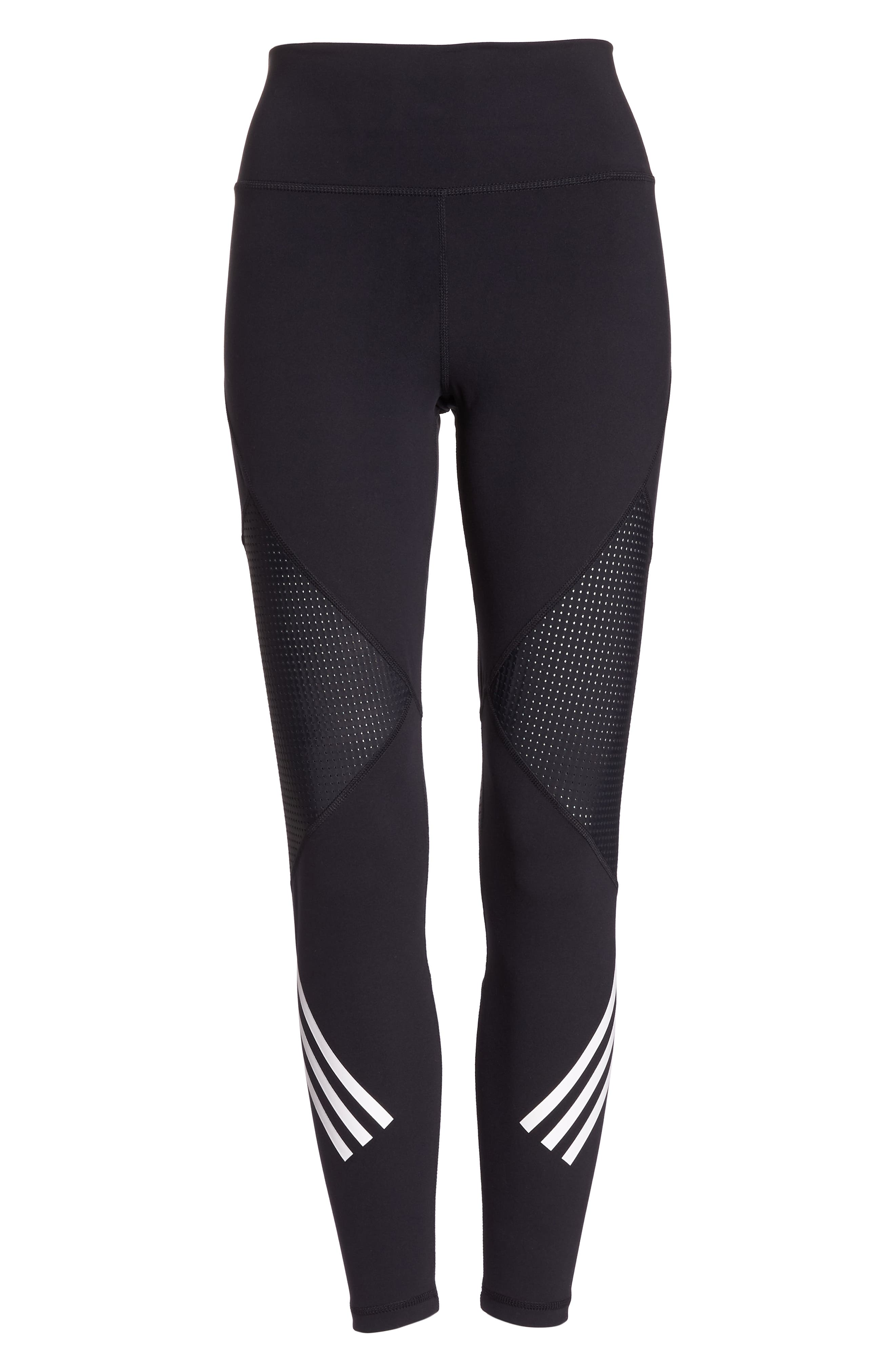 ,                             Believe This High Waist 7/8 Tights,                             Alternate thumbnail 7, color,                             BLACK/ WHITE