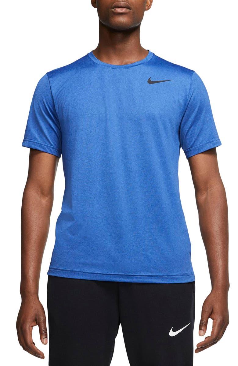 NIKE Pro Dri-FIT Training T-Shirt, Main, color, OBSIDIAN/ GAME ROYAL/ BLACK