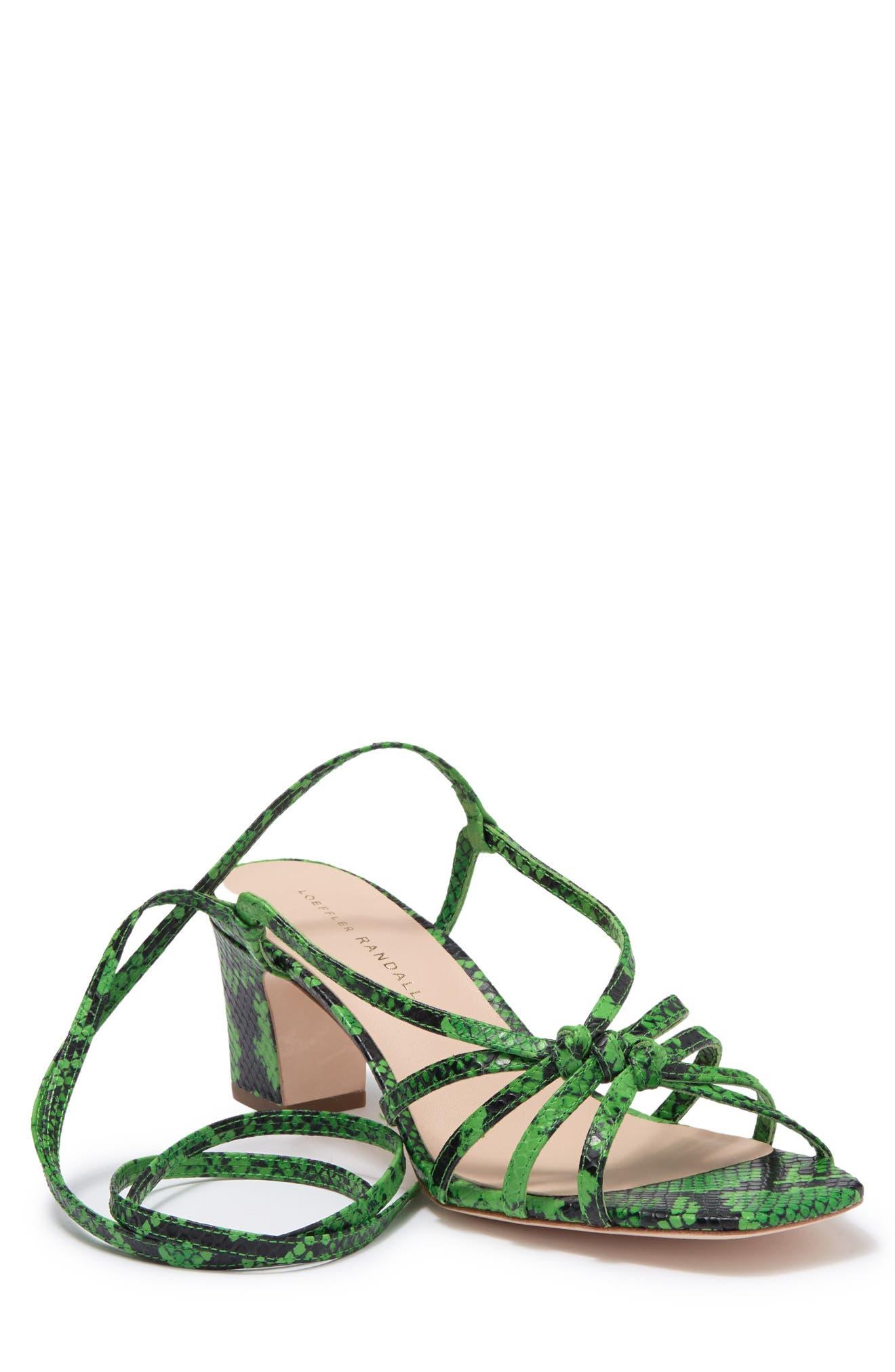 Image of LOEFFLER RANDALL Libby Snake Embossed Sandal