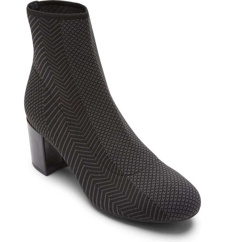 ROCKPORT Total Motion<sup>®</sup> Oaklee Knit Bootie, Main, color, BLACK MESH FABRIC