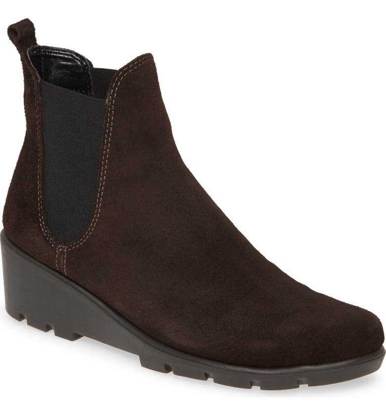 THE FLEXX Slimmer Chelsea Wedge Boot, Main, color, BRUCIATO SUEDE
