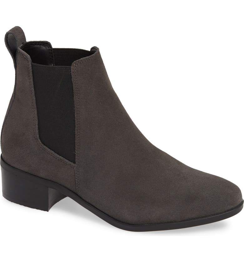 STEVE MADDEN Dover Chelsea Bootie, Main, color, GREY SUEDE