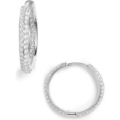 Nordstrom Small Pave Hoop Earrings