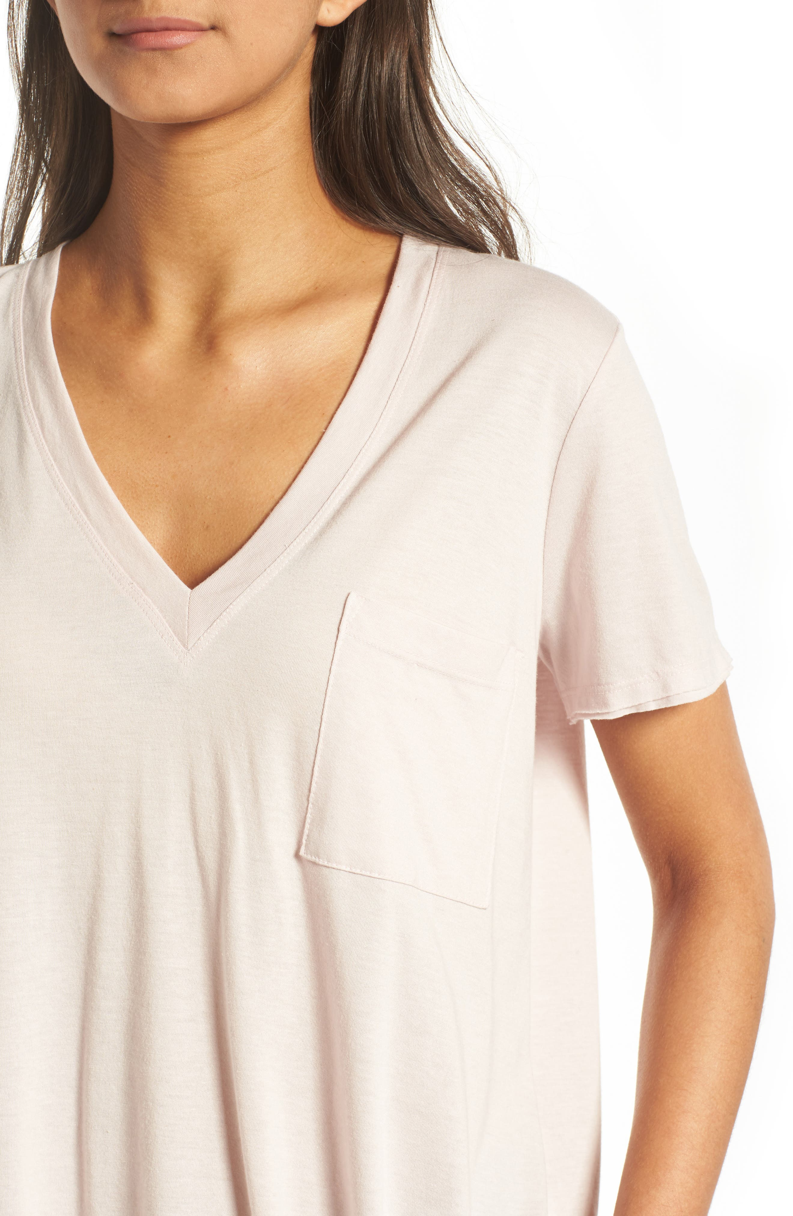 ,                             Raw Edge Side Slit Tee,                             Alternate thumbnail 16, color,                             680