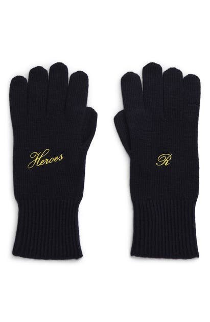 Raf Simons Gloves HEROES WOOL & CASHMERE GLOVES