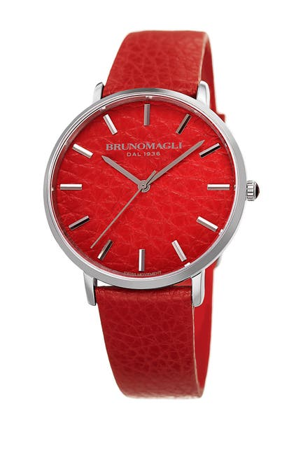 Image of Bruno Magli Women's Roma 1223 Embossed Leather Strap Watch, 38x42mm