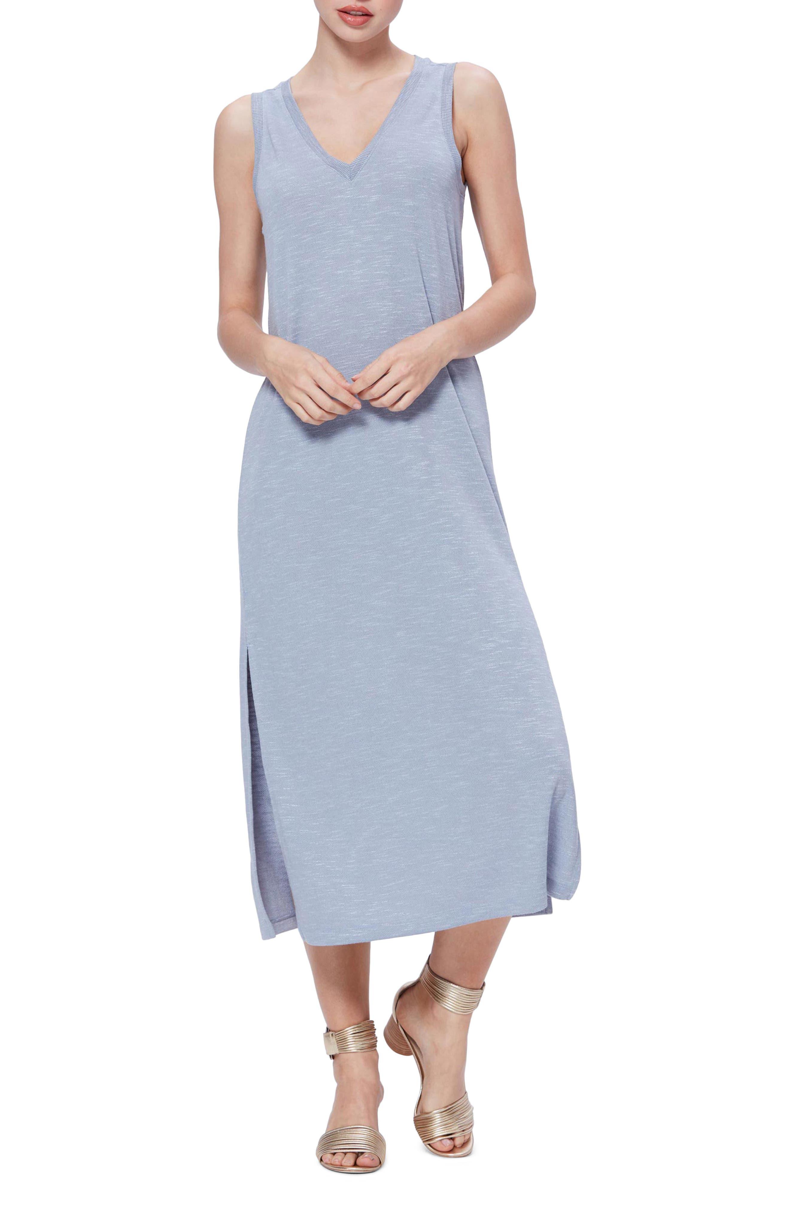 Paige Sage Midi Dress, Blue