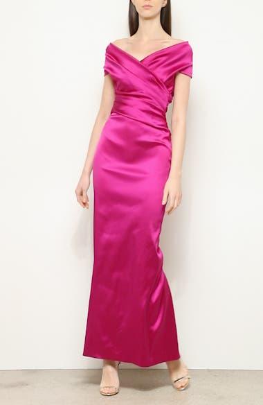 f Stretch Duchesse Satin Gown, video thumbnail