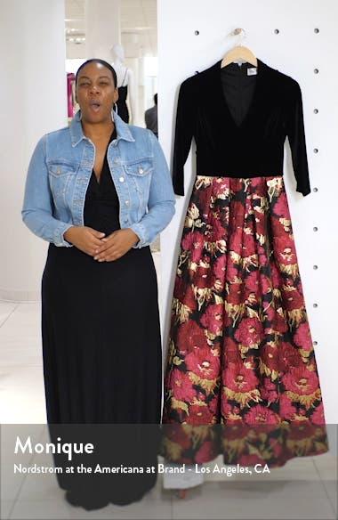 Velvet & Floral Jacquard Ballgown, sales video thumbnail