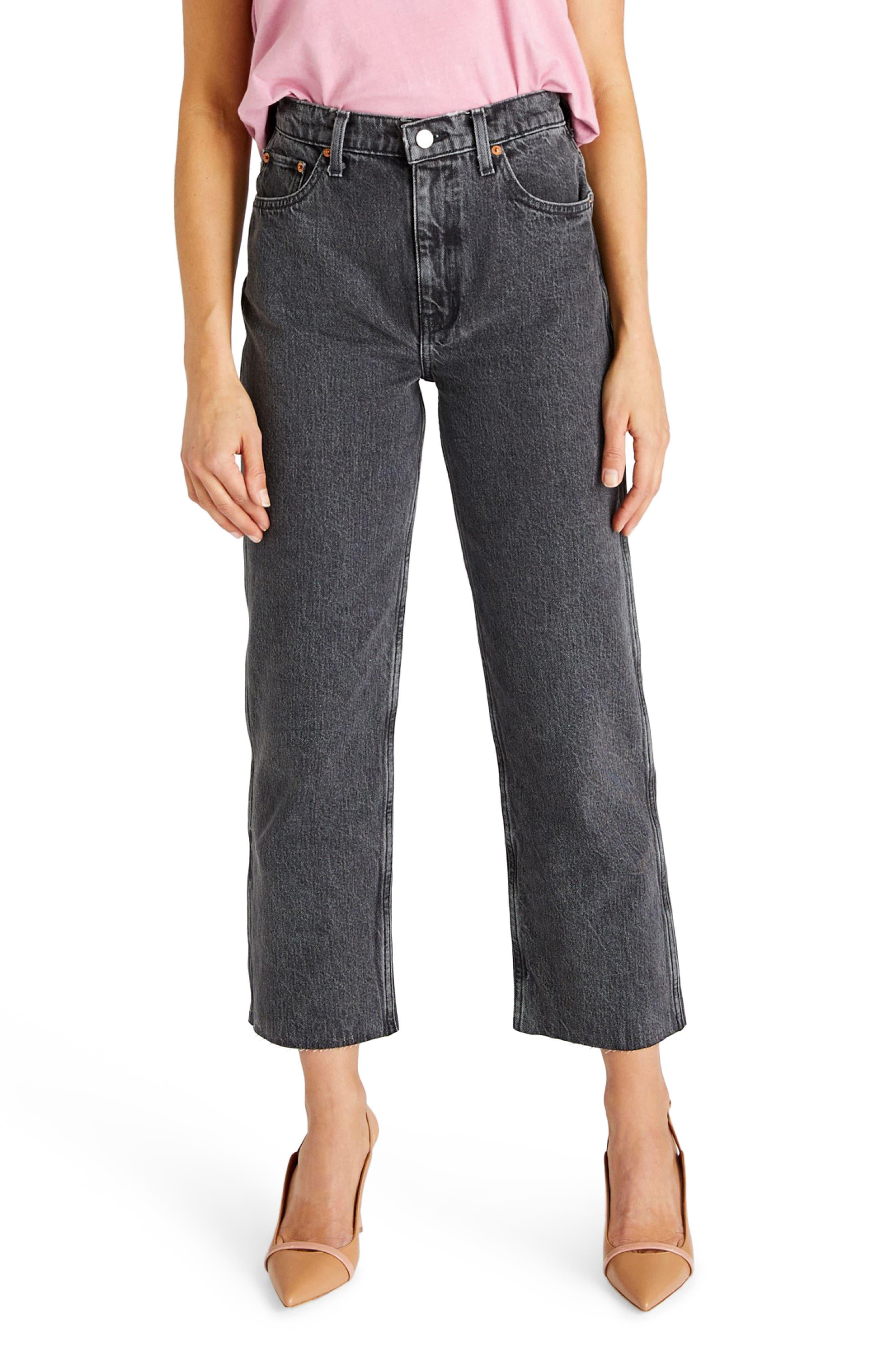 Women's Etica Tyler High Waist Crop Straight Leg Jeans