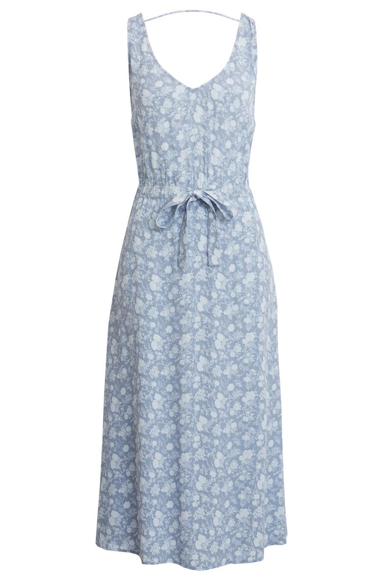 TREASURE & BOND Blouson Tank Midi Dress, Main, color, BLUE GRETA FLORAL