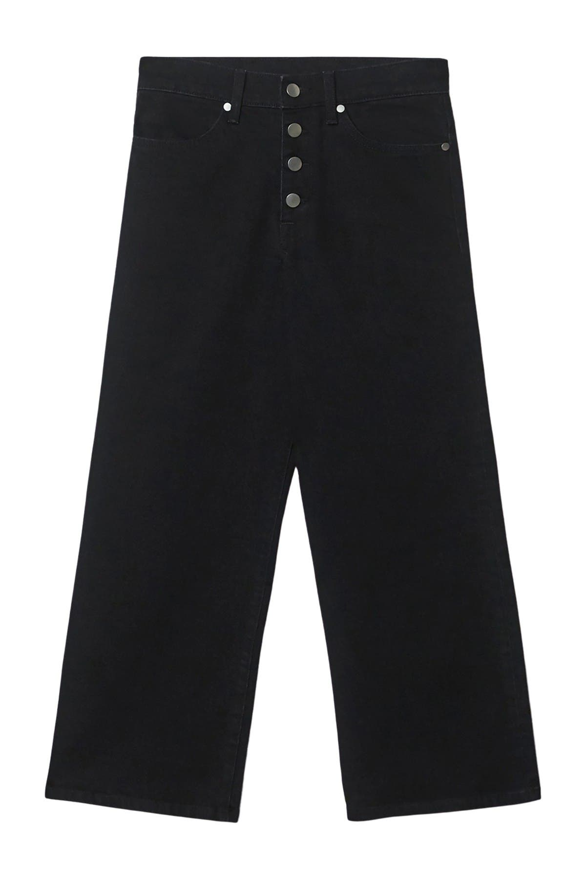 Image of BALDWIN Cropped Wide Leg Jeans