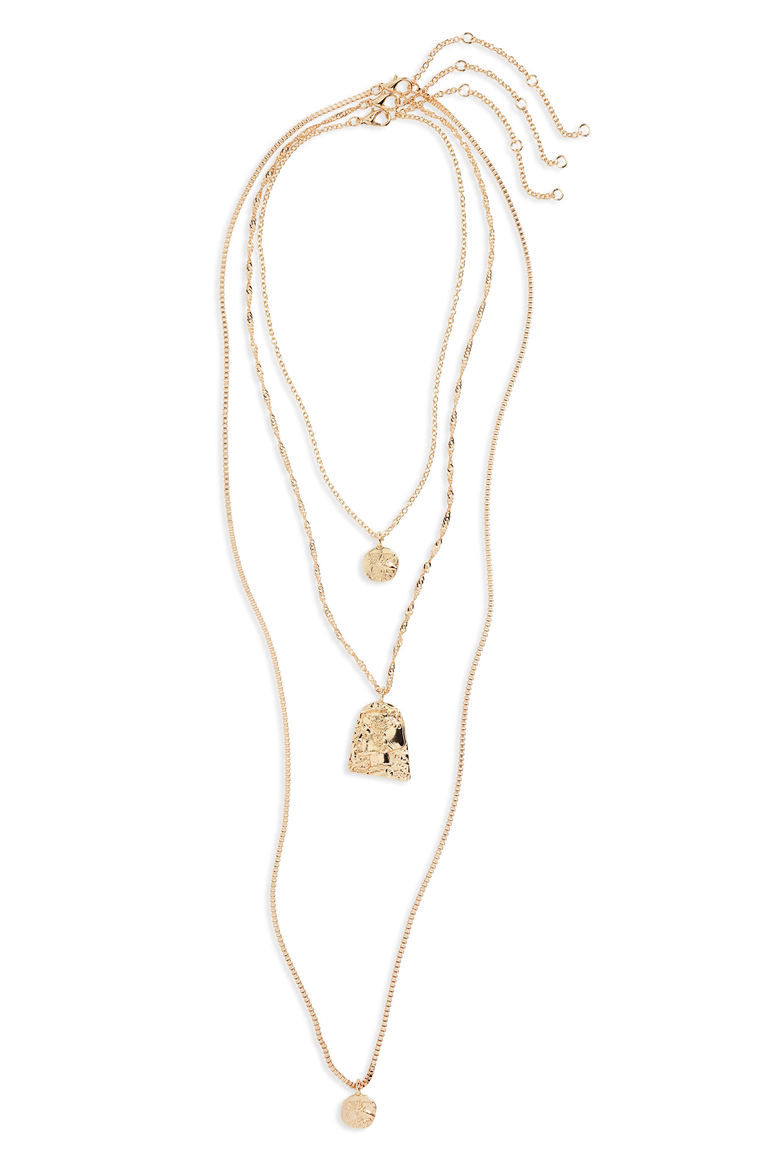 ,                             Layered Coin Necklace,                             Alternate thumbnail 2, color,                             GOLD