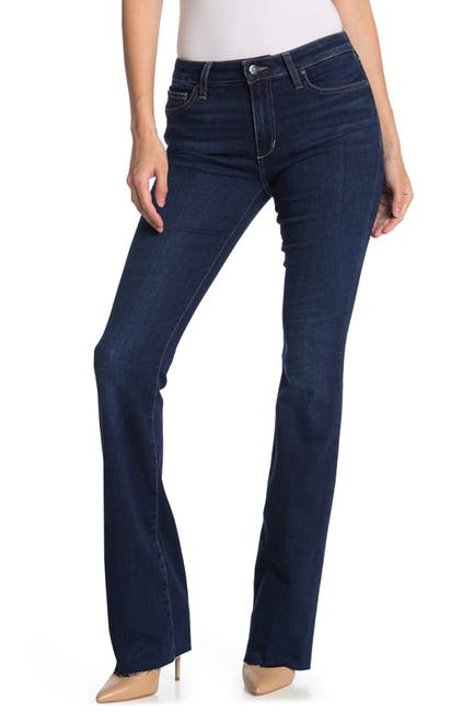 Image of Joe's Jeans Mid Rise Bootcut Jeans With Cut Hem