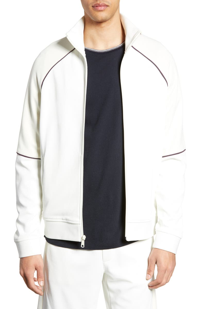 VINCE Piped Trim Track Jacket, Main, color, 112