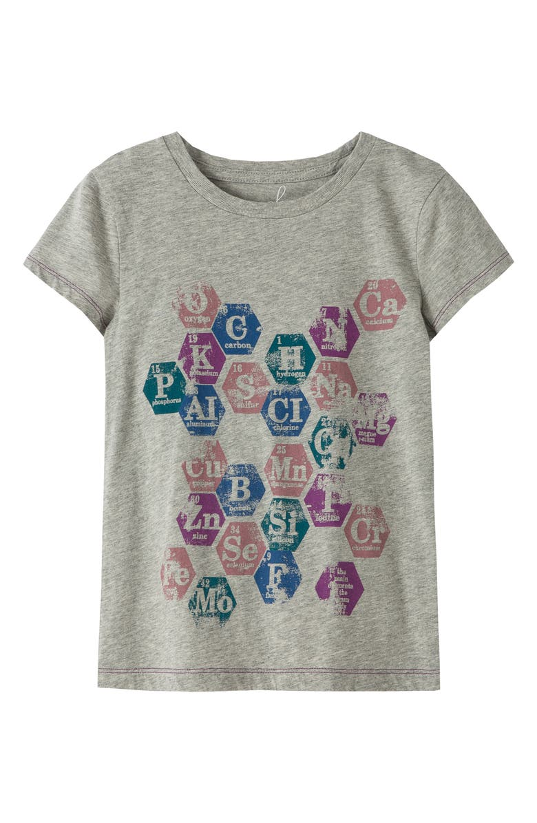 PEEK AREN'T YOU CURIOUS Periodic Table Graphic Tee, Main, color, GREY HEATHER