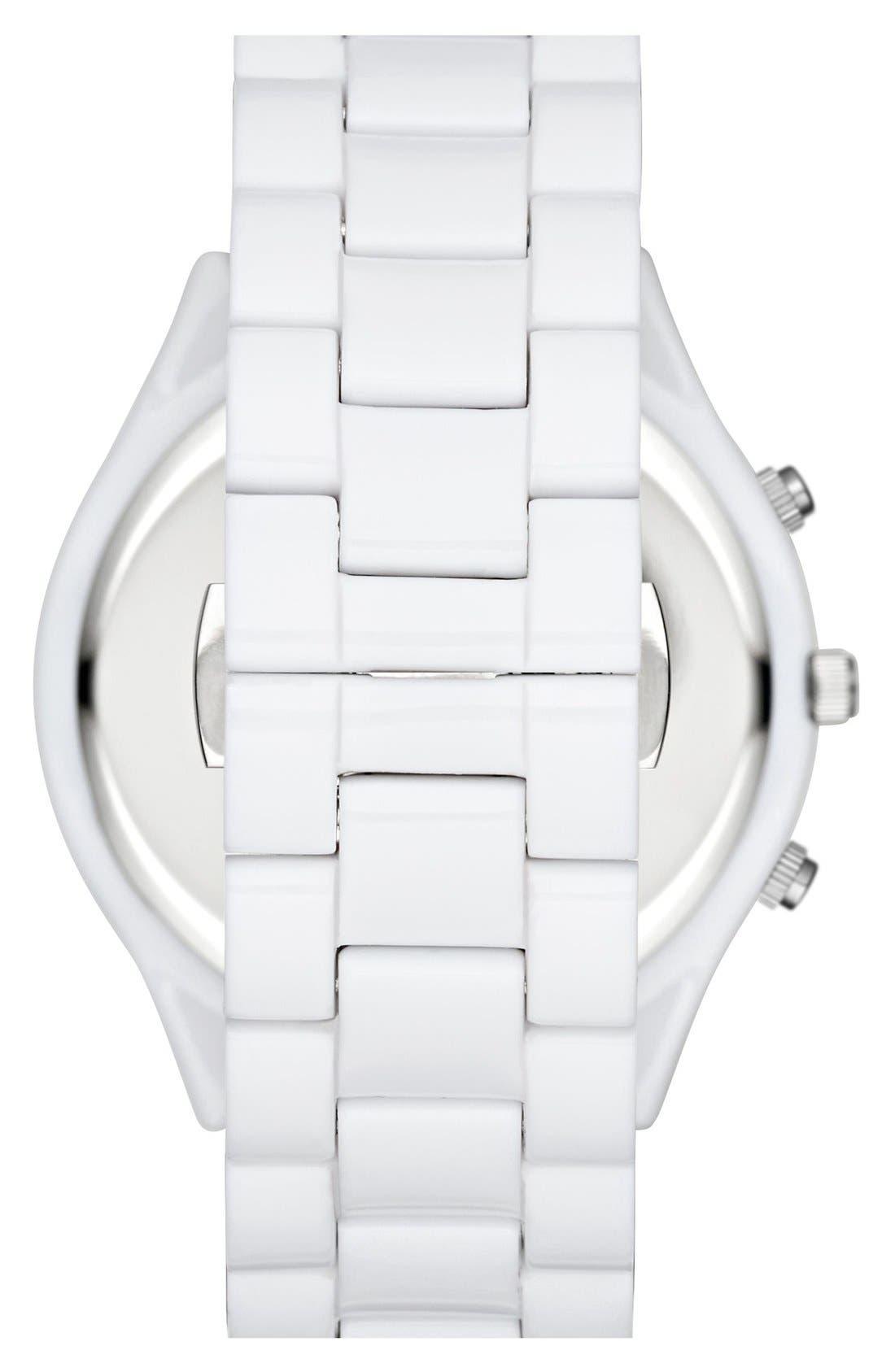 ,                             Michael Kors 'Slim Runway' Chronograph Bracelet Watch, 42mm,                             Alternate thumbnail 7, color,                             100