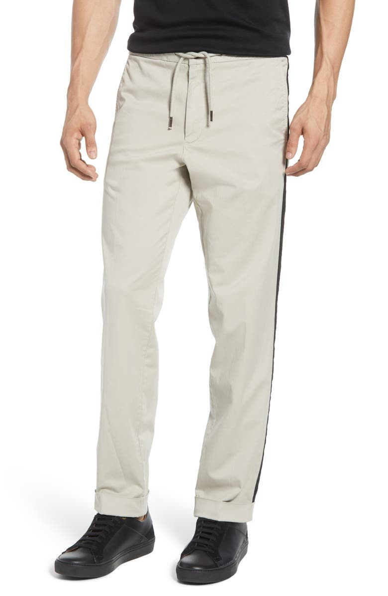 TODD SNYDER Side Stripe Drawstring Pants, Main, color, STONE