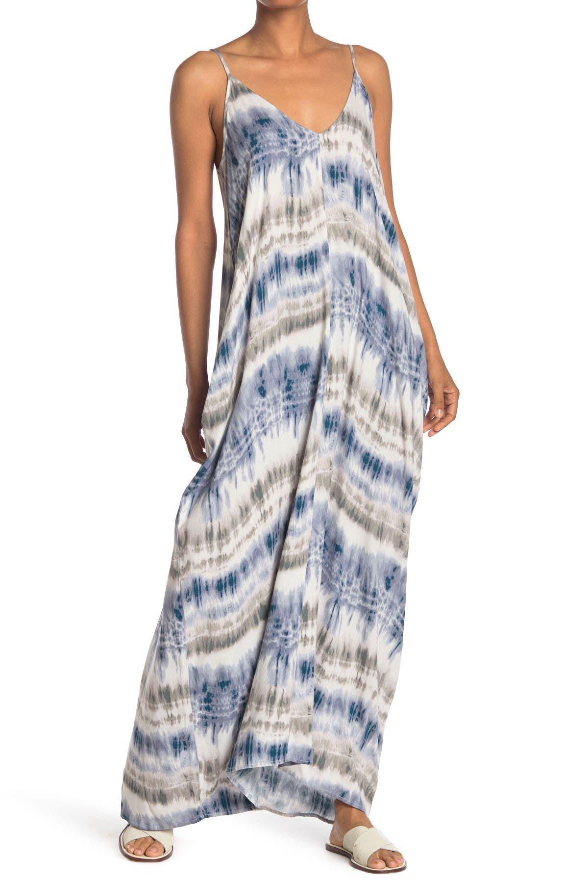 Image of Love Stitch Printed Gauze Maxi Dress