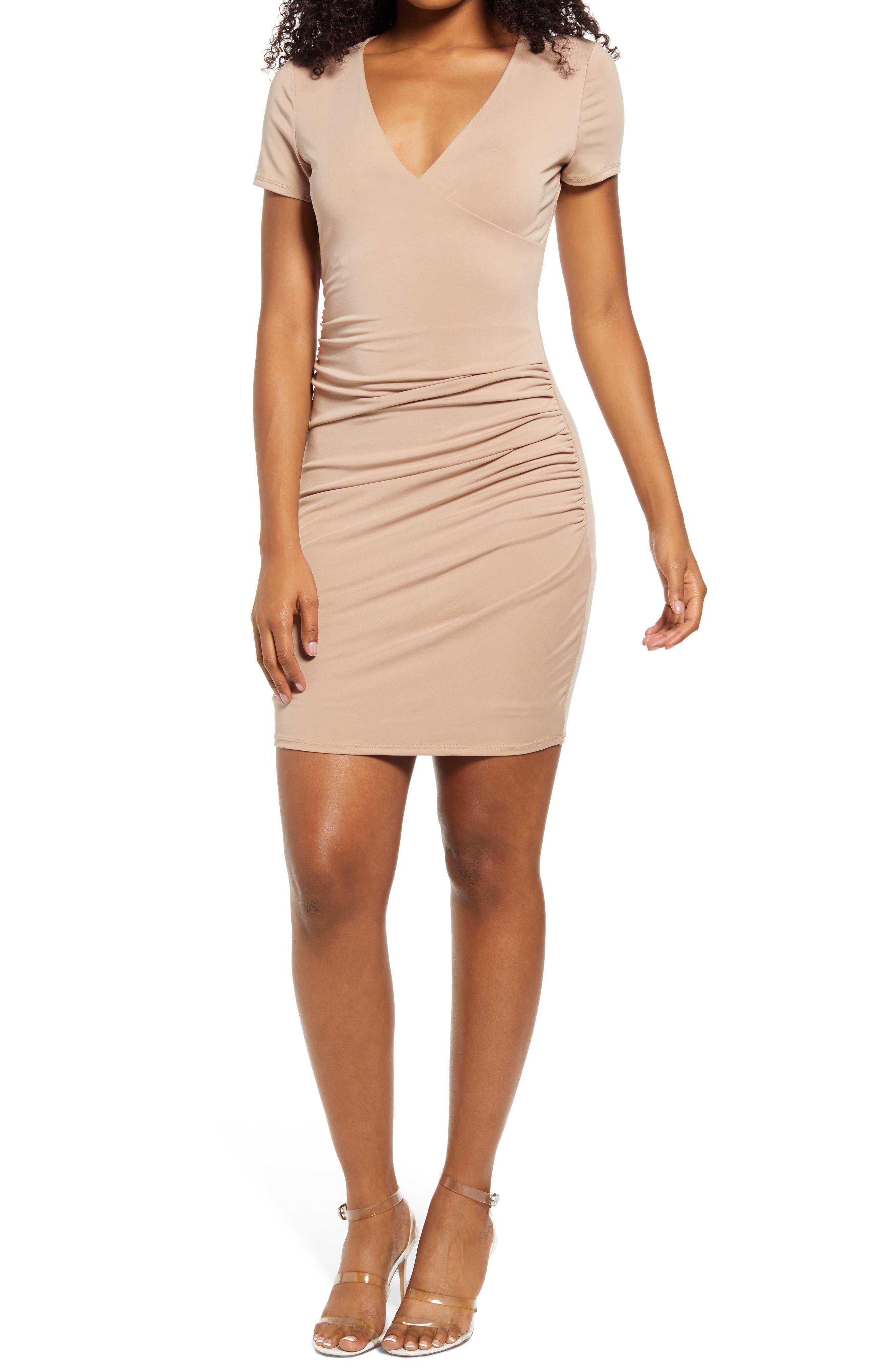 Megan Ruched Sheath Dress