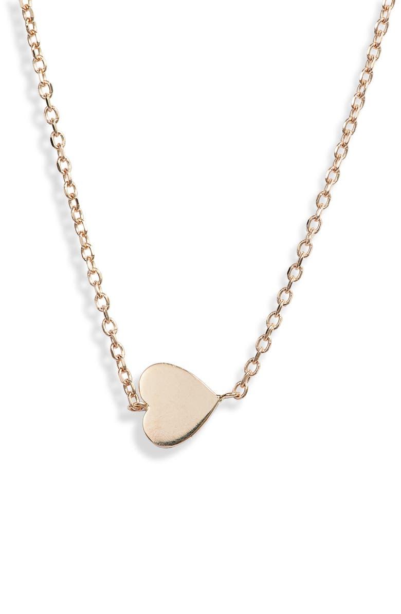 ANZIE Love Letter Heart Pendant Necklace, Main, color, GOLD