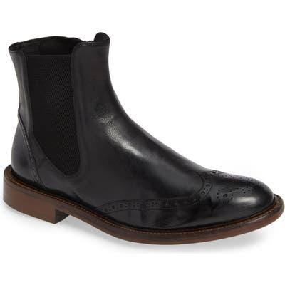 J & m 1850 Bryson Wingtip Chelsea Boot- Black