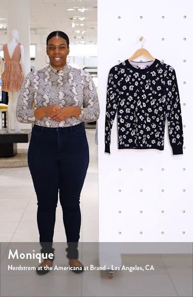 Floral Intarsia Merino Wool Pullover, sales video thumbnail