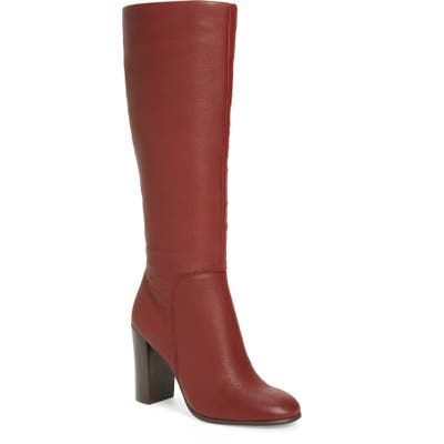 Kenneth Cole New York Justin Water Resistant Knee High Boot, Burgundy