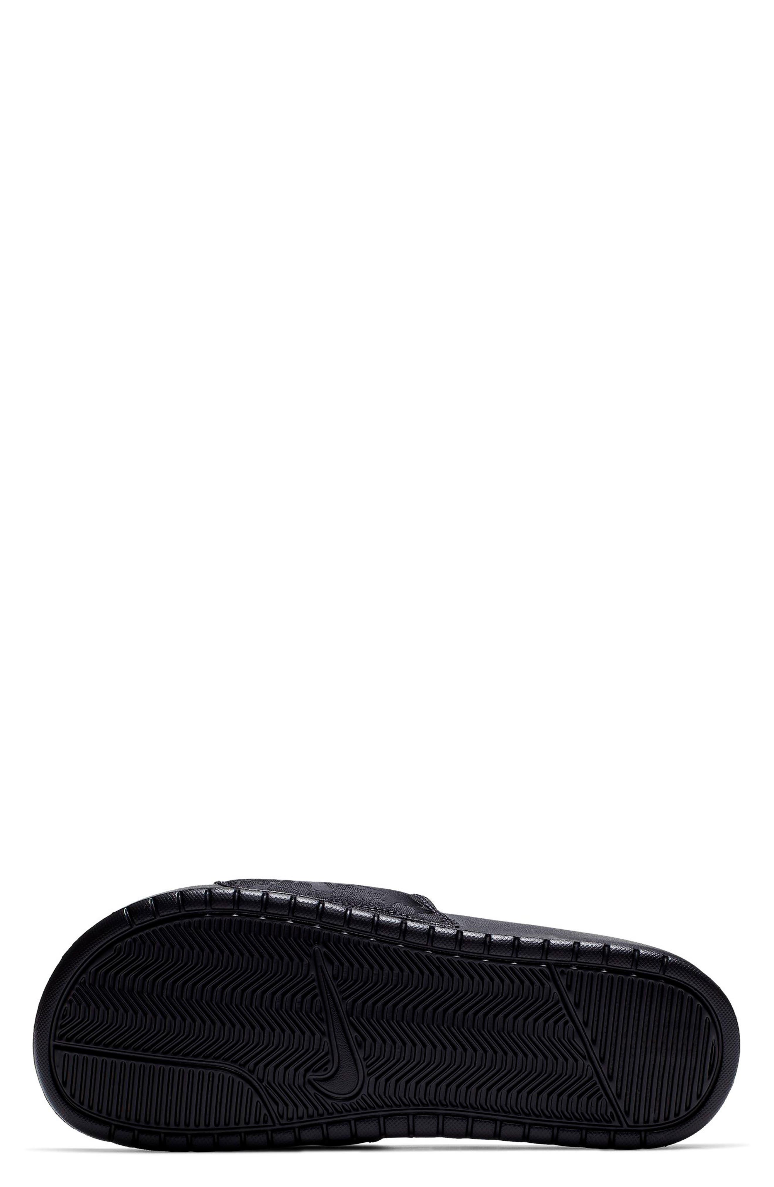 ,                             Benassi JDI Textile SE Slide Sandal,                             Alternate thumbnail 3, color,                             BLACK/ BLACK/ OIL GREY