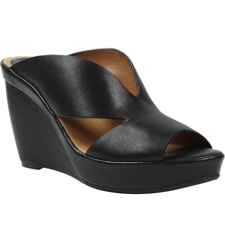 L'AMOUR DES PIEDS Ivybell Slide Sandal, Main, color, BLACK LEATHER