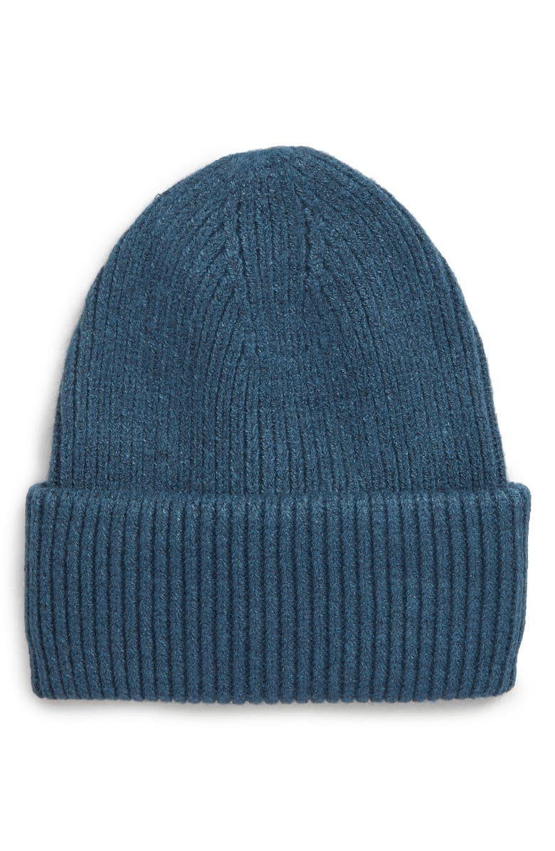 SOLE SOCIETY Classic Knit Beanie, Main, color, TEAL