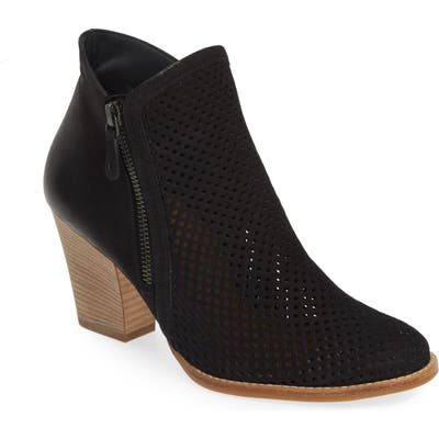 Paul Green Bonzai Perforated Bootie, .5UK - Black