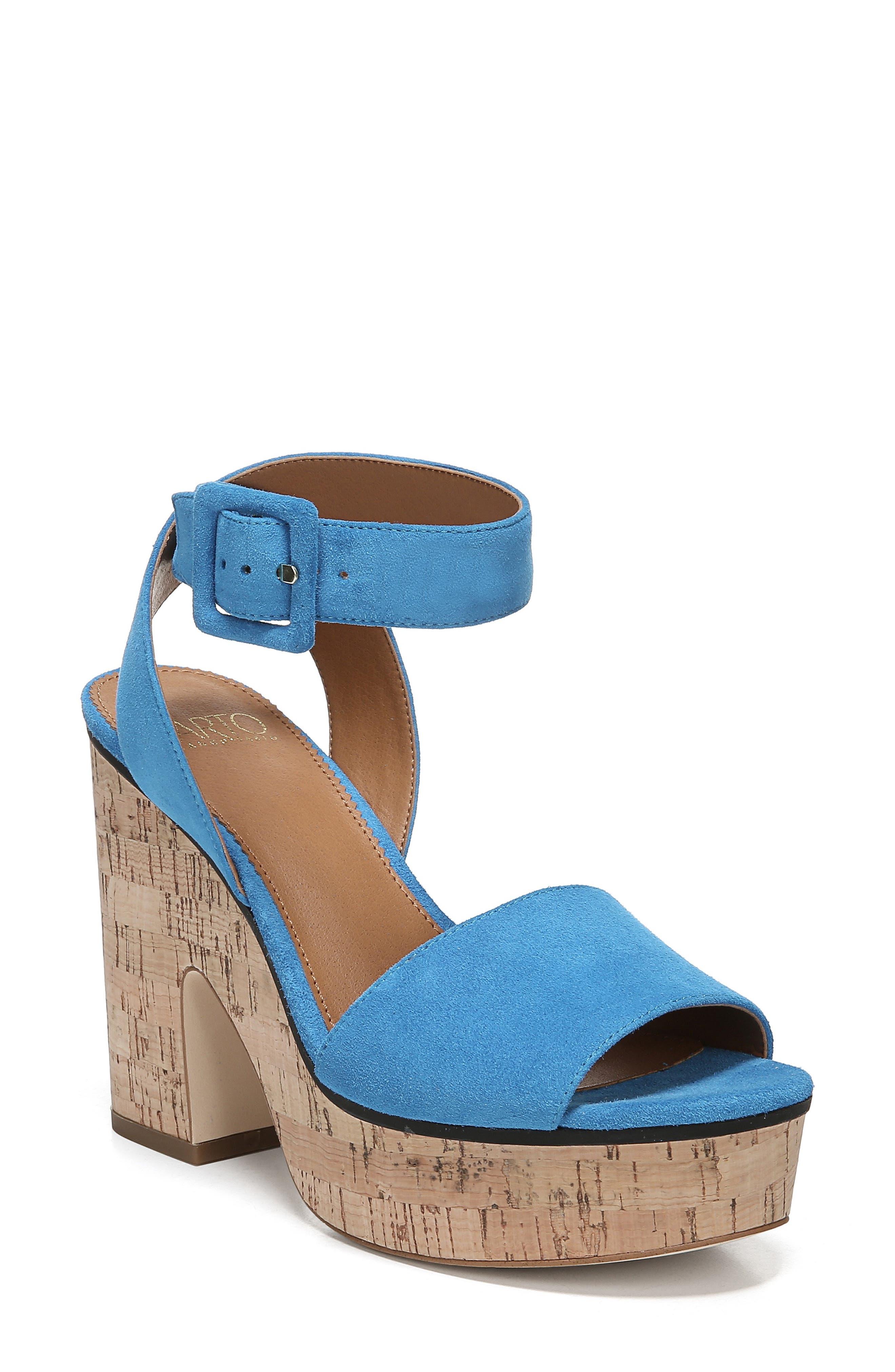 Sarto By Franco Sarto Franny Platform Sandal- Blue