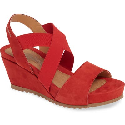 Mephisto Giuliana Wedge Sandal, Red