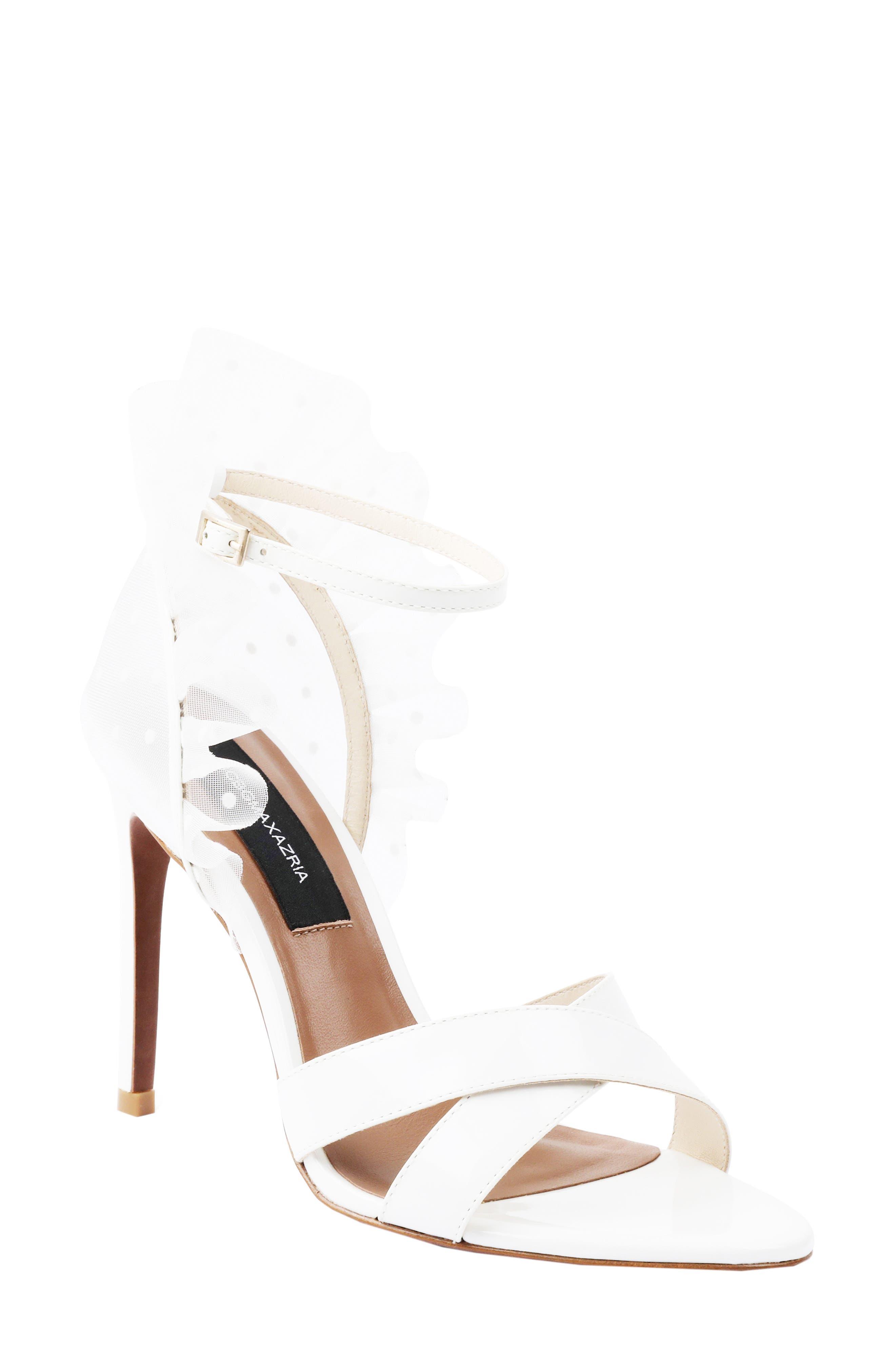 Stella Ruffle Ankle Strap Sandal