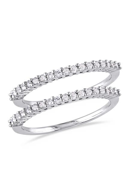 Image of Delmar Sterling Silver Diamond Anniversary Ring 2-Piece Set - 0.36 ctw
