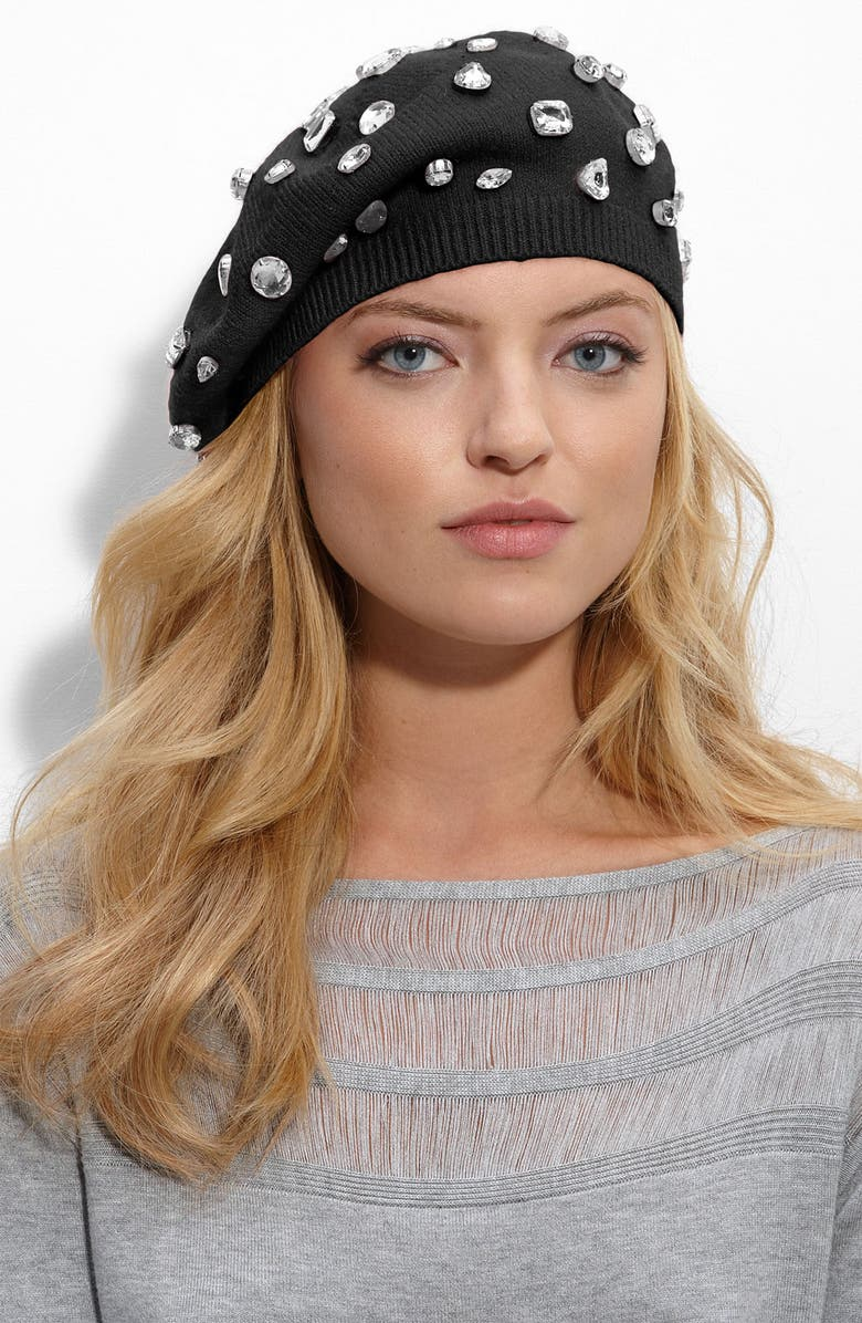 NORDSTROM Jeweled Beret, Main, color, 001