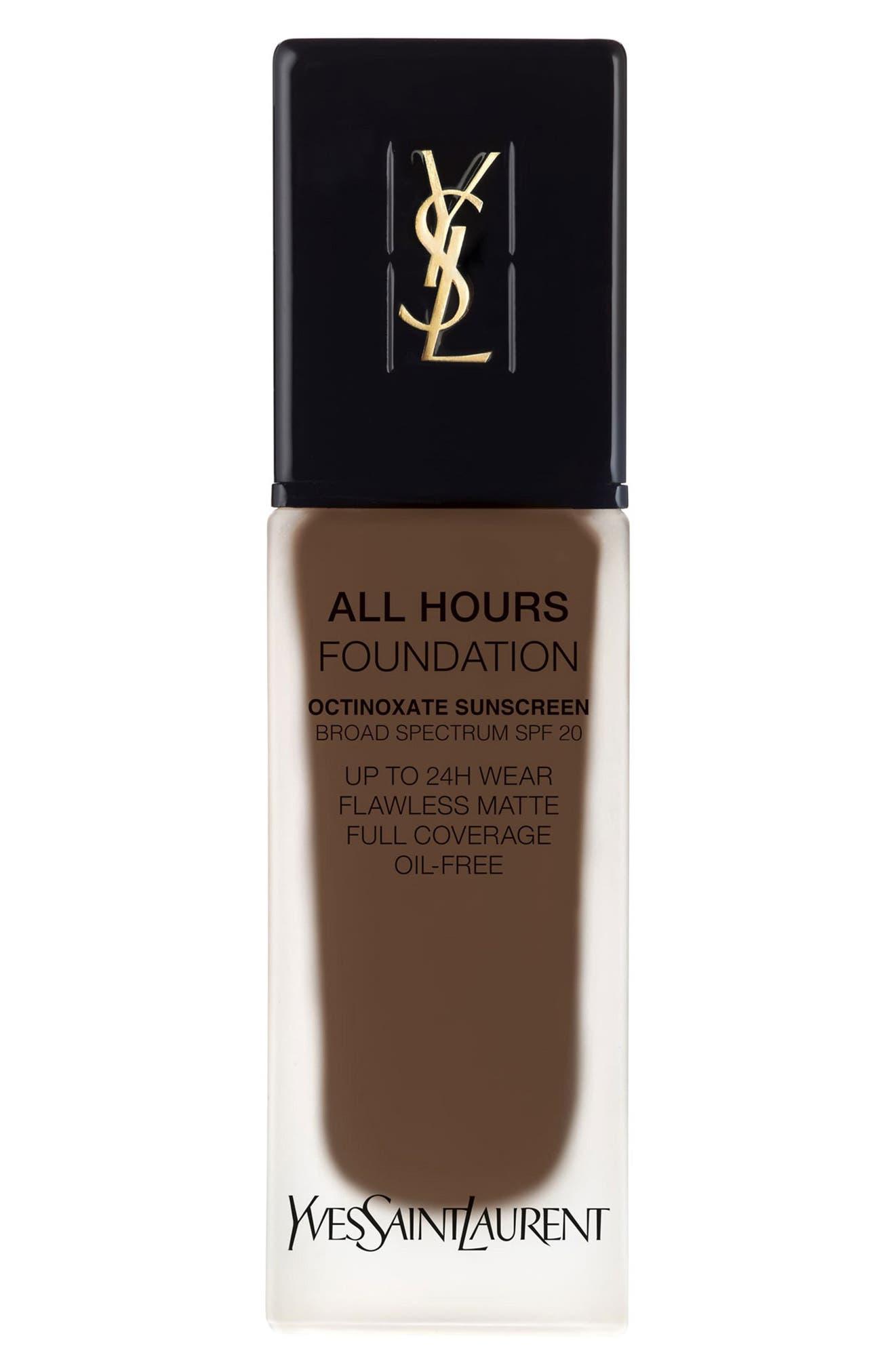 Yves Saint Laurent All Hours Full Coverage Matte Foundation Spf 20 - B95 Espresso