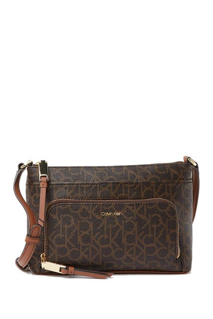 Image of Calvin Klein Lily Key Item Monogram Crossbody Bag