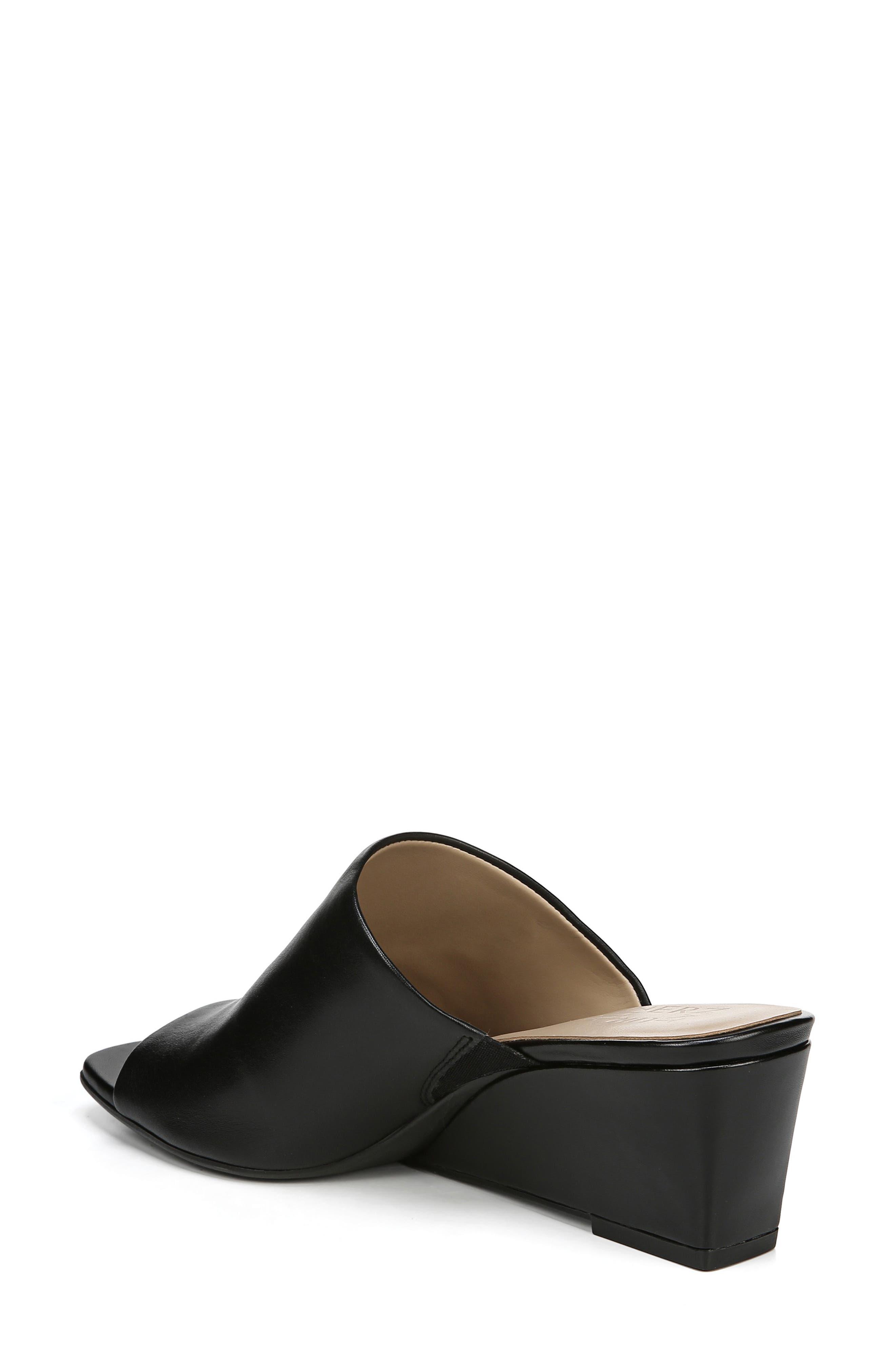 ,                             Zaya Wedge Slide Sandal,                             Alternate thumbnail 2, color,                             BLACK LEATHER