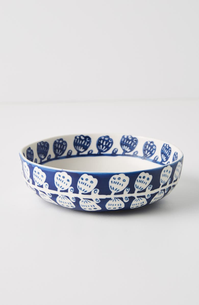 ANTHROPOLOGIE Pallu Set of 4 Bowls, Main, color, BLUE COMBO