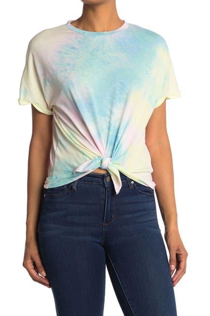 Image of CODEXMODE Tie Dye Short Sleeve Twist Front Top