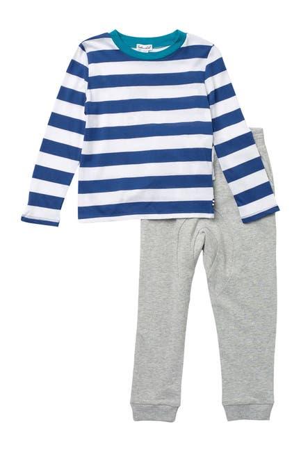 Image of Splendid Striped Long Sleeve T-Shirt & Joggers Set